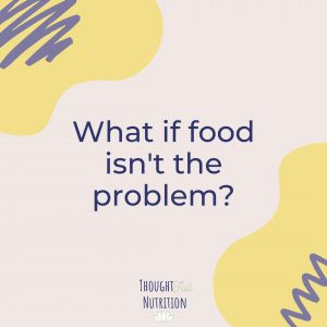 food is not the problem